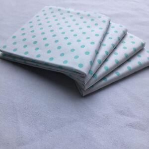 "Print Fabric,PreuctsFat Quarter18""x21""(Green dots white cloth)100%COTTON FABRIC"