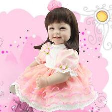 """22"""" Reborn Toddler Doll Lifelike Princess Girl Doll Vinyl Long Hair Baby Gift"""
