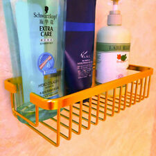 Gold Polished Brass Bathroom Shower Shelf Holder Storage Caddy Organizer