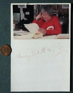 Cincinnati Reds Owner Marge Schott signed autographed photocard-Died in 2004!
