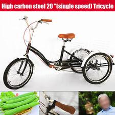 """20"""" 3 Rad Erwachsene Fahrrad Dreirad Trike Cruise Bike mit Sattel DE"""