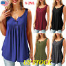 US Ladies Plus Size Top Casual Shirt Summer Women Long Blouse Tops Tunic T-shirt