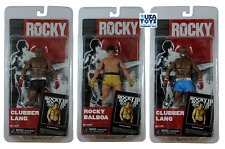 NECA Rocky III 7″ Lot3 Action Figures CLUBBER LANG BALBOA Black Blue Gold Trunks