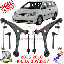 Front Lower Control Arm Kit + Inner Tie Rod + Sway Bar For 2005-10 Honda Odyssey