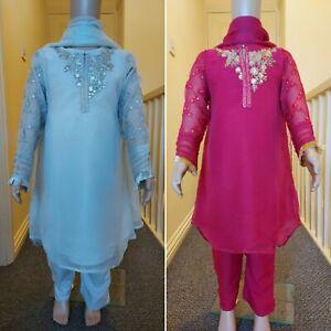 Eid collection pakistani girls salwar kameez indian wedding party dress