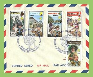 Guatemala 1985 Air. 75th Anniversary of Boy Scout Movement First Day Cover