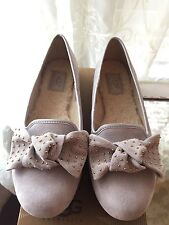 New Size 7 UGG Australia Alloway Studded Bow Flats Gray 1004766
