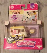 Shopkins Cutie Cars Ice Cream Machine W/ Mini Shopkin Series 4-Die Cast Body NIB