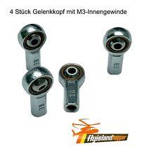 4 Stk M3 Gelenkkopf Gelenkauge Spurstangen-Lenkkopf Kugelgelenk M3-Innengewinde