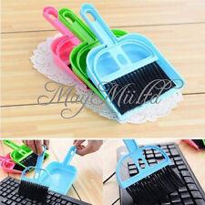 Mini Computer Desk Keyboard Desk Table Brush Dustpan Broom Netbook Car Cleaner E