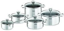 Tefal DUETTO Stainless Steel Cookware Set 11 Pcs Lid Pots 28 Cm Pan Kitchen