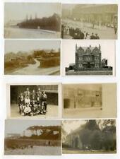 Yorkshire, Lancashire ? RP Postcards x 8