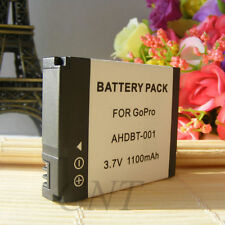 New Battery for GoPro HD 1080p 960p Hero AHDBT-001 AHDBT001 1100mAh 3.7V