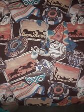 Springs Southwest American Indian Horses Saguaro Cacti Cotton Sewing Fabric BTY