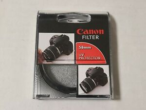 Genuine Canon 58mm UV Protector Filter For EOS Rebel Lenses Official 2605A008