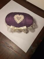 Vintage Antique Small Wicker Sewing Basket Pin Cushion
