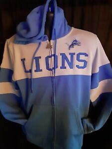 Detroit Lions NFL Men's Starter Hooded Front Zip Sweatshirt