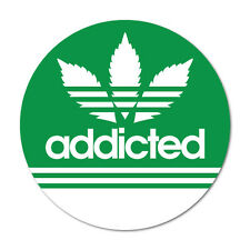 Addicted Adidas Weed Decal 420 Dope Car Funny #7677NM