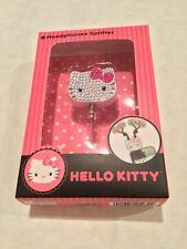 Hello Kitty Jeweled 3.5mm Headphones Splitter Compatible w/Most Smartphones MP3