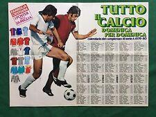 (FM26) CALENDARIO CAMPIONATO CALCIO 1979/80 POSTER 55x41 da Famiglia Cristiana