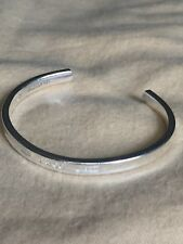 Authentic TIFFANY & Co. Sterling Silver 1837 Thin CUFF Bangle Bracelet