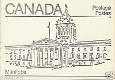 Canada 1982 - 50¢ Maple Leaf Booklets #BK82 (labels bottom row) - Manitoba