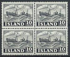 Mint Never Hinged/MNH Icelandic Stamp Blocks