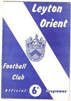 Leyton Orient v Norwich City 1965/6 (December)