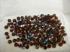 full package,144 new preciosa round crystal beads,7mm smoked topaz AB