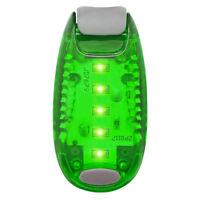 Green LED Safety Light Night Clip On Waterproof Flashing Running Cycling Bike