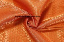 "Orange Brocade Fabric Damask Jacquard Flower Sofa Upholstery Fabric by yard 44"""