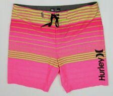 Hurley Phantom board shorts size 36 hot pink volt green