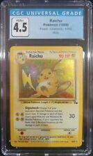 Raichu 14/62 Fossil Unlimited Holo Rare CGC 4.5 VG/Ex+ Pokemon TCG