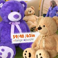 Giant Teddy Bear Plush Stuffed Animal Toy Valentine Birthday Christmas Kids Gift