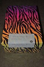 Multi-Colored Zebra Print Multi-Purpose Storage Box NEW SEALED Photo Box