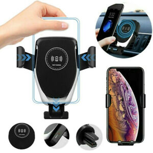 10W Clamping Car Mount QI Wireless Fast Charger Holder Stand For i Phone 11