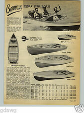 1954 PAPER AD 3 PG Bowman Cedar Strip Wood Wooden Boats Rogue Majestic Outboard