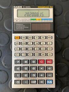 Vintage Solar Programmable Scientific Calculator Casio FX-3600PA Program FX 1989