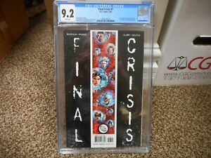 Final Crisis 7 cgc 9.2 DC 2009 1st appearance of Calvin Ellis Black Superman NM