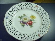 Schale Teller  Marienbad Ingres Weiss - Porzellan-florales Dekor