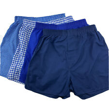 Fruit of the Loom Boys Blue Plaid Fly Front  Tag Free Boxer Shorts 4 Pack XL