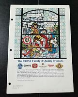 "1983 Pabst Blue Ribbon Beer Ad Slick ""Pabst family of Quality Products"" COLOR"