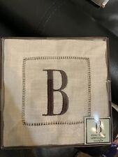 Monogrammed Linen Coaster Set - Letter b