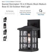 Quoizel SNN8406K Stonington Outdoor Wall Lights Mystic Black