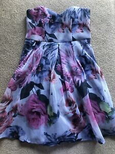 CITY CHIC Fabulous Mesh Overlay Cocktail Formal Party Dress Size M