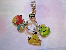 ANGRY BIRDS WITH 4 CHARMS * PURSE BACKPACK HANG TAG   KEYCHAIN  *