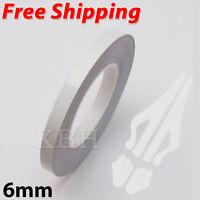 White Self Adhesive Car Pin Stripe Coach Line Tape Styling Stripe 6mm x 10meter