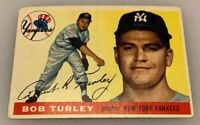 1955 Topps # 38 Bob Turley Baseball Card New York Yankees