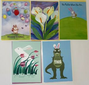 NEW RECYCLED PAPER GREETINGS LOT OF 5 EASTER CARDS $15.95 VALUE BY PAPYRUS