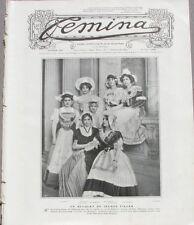 Femina n°176 -  1908 - La Mode aux courses - Aux fêtes de Saint-Sebastien -